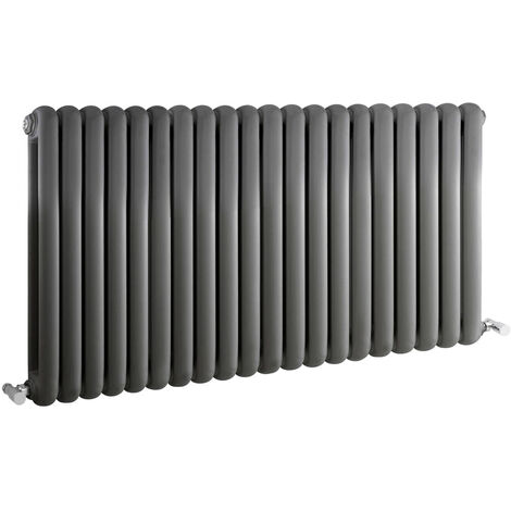 Radiateur Design Horizontal Anthracite Saffré 63,5cm x 122,3cm x 8cm 2082 Watts