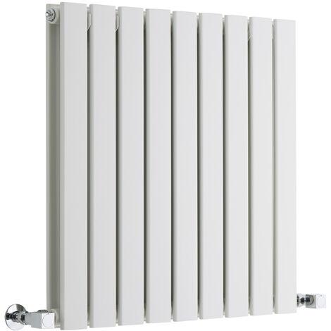 Radiateur Design Horizontal Blanc Delta 63,5cm x 63cm x 4,5cm 860 Watts
