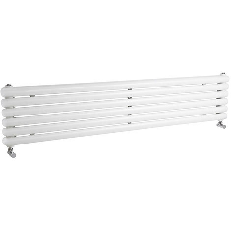 Radiateur Design Horizontal Blanc Saffré 180cm x 38,3cm x 8cm 1990 Watts