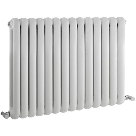 Radiateur Design Horizontal Blanc Saffré 63,5cm x 86,3cm x 8cm 1496 Watts