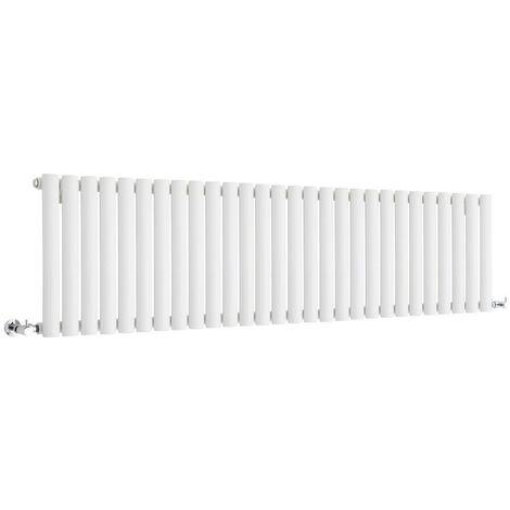 Hudson Reed Vitality – Radiateur Design Horizontal Compact – Blanc – 40 x 164,7cm