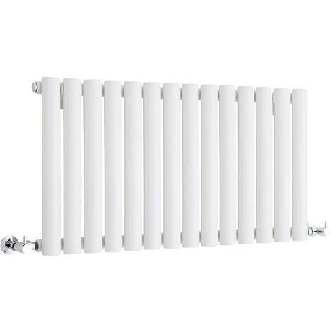 Hudson Reed Vitality – Radiateur Design Horizontal Compact – Blanc – 40 x 83,4cm