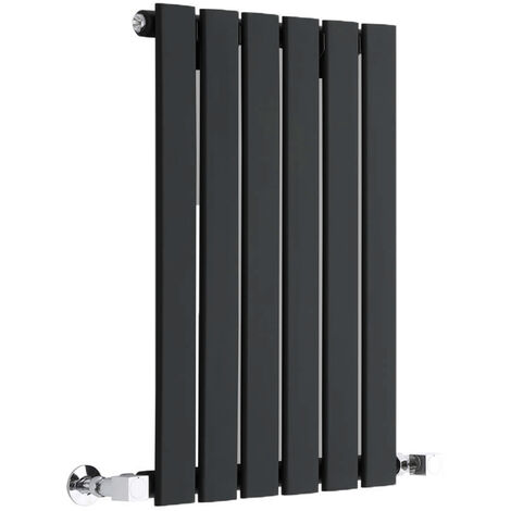 Radiateur Design Horizontal Noir Delta 63,5cm x 42cm x 5,4cm 376 Watts