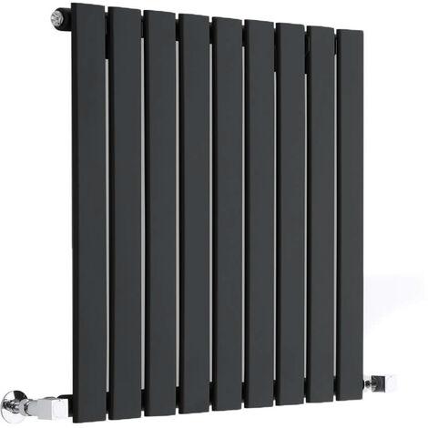Radiateur Design Horizontal Noir Delta 63,5cm x 63cm x 3cm 563 Watts
