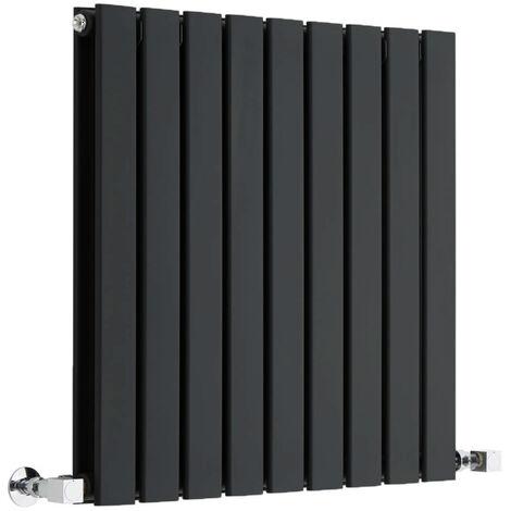 Radiateur Design Horizontal Noir Delta 63,5cm x 63cm x 4,5cm 860 Watts