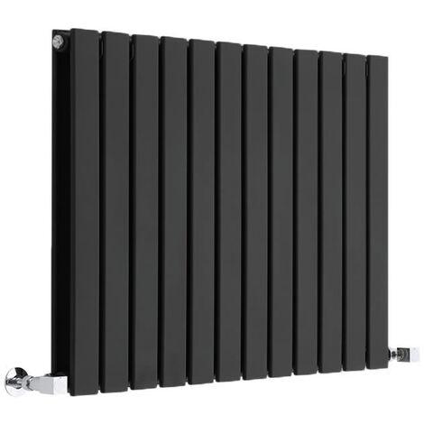 Radiateur Design Horizontal Noir Delta 63,5cm x 84cm x 4,5cm 1146 Watts