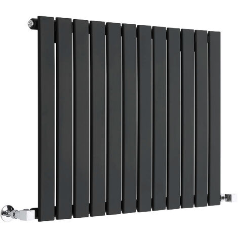 Radiateur Design Horizontal Noir Delta 63,5cm x 84cm x 5,2cm 751 Watts