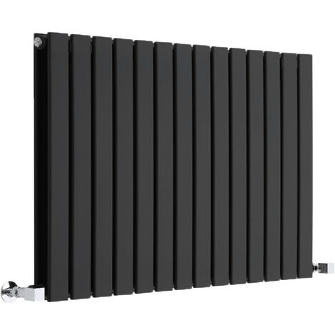 Radiateur Design Horizontal Noir Delta 63,5cm x 98cm x 3cm 1338 Watts
