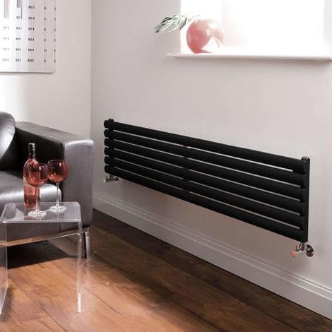 Radiateur Design Horizontal Noir Vitality 35,4cm x 160cm x 3cm 814 Watts