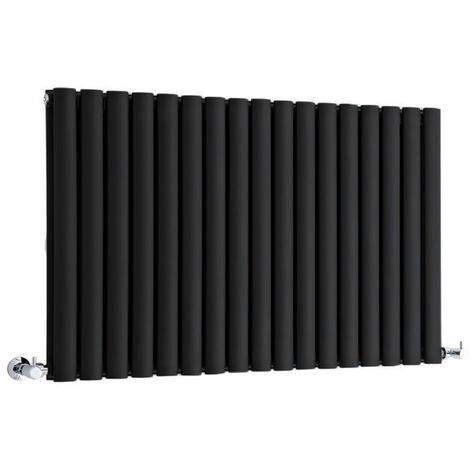 Radiateur Design Horizontal Noir Vitality 63,5cm x 100cm x 8,4cm 1584 Watts