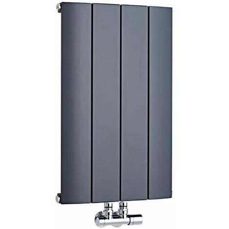 Radiateur Design Horizontal Raccordement Central Aluminium Anthracite Aurora 60cm x 113,5cm x 7,8cm 1535 Watts