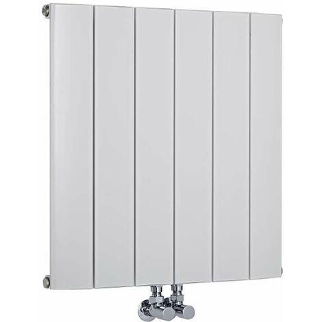 Radiateur Design Horizontal Raccordement Central Aluminium Blanc Aurora 60cm x 94,5cm x 7,8cm 1279 Watts