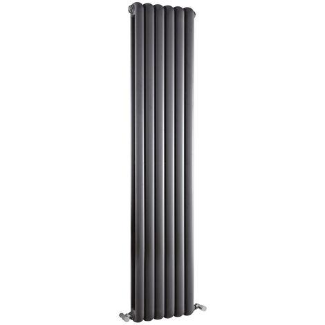 Radiateur Design Vertical Anthracite Saffré 150cm x 38,3cm x 8cm 1258 Watts