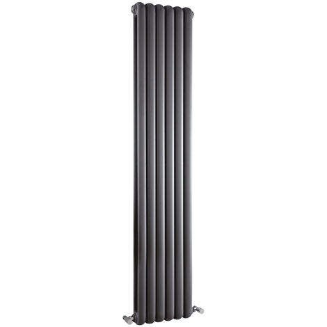Radiateur Design Vertical Anthracite Saffré 180cm x 38,3cm x 8cm 1964 Watts