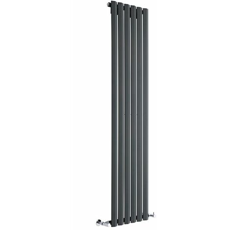 Radiateur Design Vertical Anthracite Salisbury 178cm x 42cm x 6cm 1050 Watts