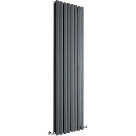 Radiateur Design Vertical Anthracite Salisbury 178cm x 56cm x 8,6cm 2158 Watts