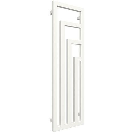 Radiateur design vertical - Blanc - Raccordement au centre - Angus/SX (plusieurs tailles disponibles)