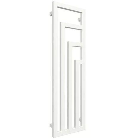 Radiateur design vertical - Blanc - Raccordement au centre - Angus/ZXB (plusieurs tailles disponibles)