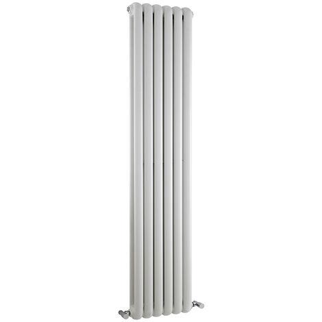 Radiateur Design Vertical Blanc Saffré 150cm x 38,3cm x 8cm 1258 Watts