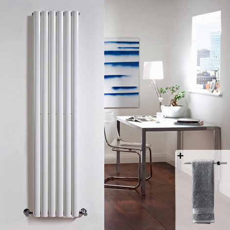 Radiateur Design Vertical Blanc Vitality 160cm x 35,4cm x 10,5cm 841 Watts