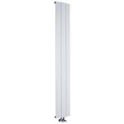 Radiateur Design Vertical Raccordement Central Aluminium Blanc Aurora 180cm x 28cm x 7,8cm 1152 Watts
