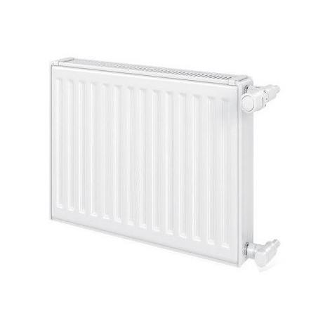 Radiateur eau chaude 1864W panneau double blanc type 21 H900mm L1000mm raccordement latéral VONOVA Compact FINIMETAL 21V90-1000