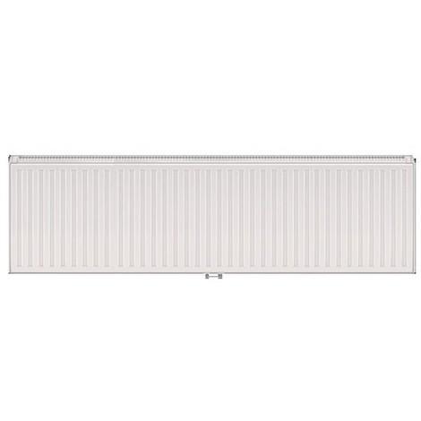 Radiateur eau chaude 2185W panneau double blanc type 33 H300mm L1400mm raccordement central VONOVA T6 FINIMETAL 33VM30-1400