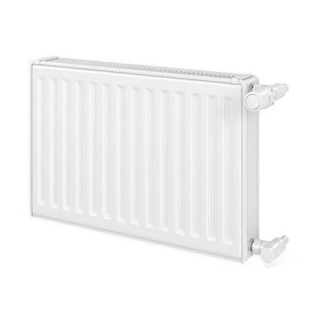 Radiateur eau chaude 2237W panneau double blanc type 21 H900mm L1200mm raccordement latéral VONOVA Compact FINIMETAL 21V90-1200