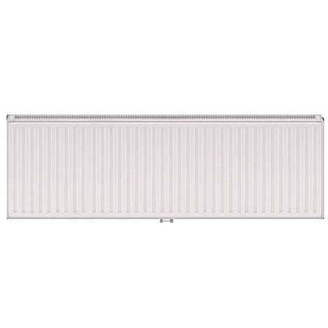 Radiateur eau chaude 2556W panneau double blanc type 33 H400mm L1320mm raccordement central VONOVA T6 FINIMETAL 33VM40-1320