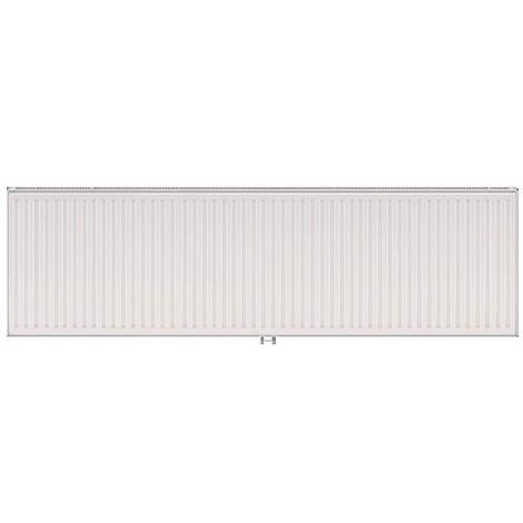 Radiateur eau chaude 2714W panneau double blanc type 21 H600mm L2000mm raccordement central VONOVA T6 FINIMETAL 21VM60-2000
