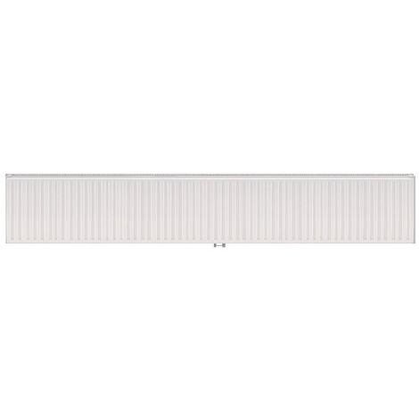 Radiateur eau chaude 3681W panneau double blanc type 21 H500mm L3000mm raccordement central VONOVA T6 FINIMETAL 21VM50-3000