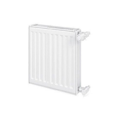 Radiateur eau chaude 488W panneau simple blanc type 11 H600mm L520mm raccordement latéral VONOVA Compact FINIMETAL 11V60-0520
