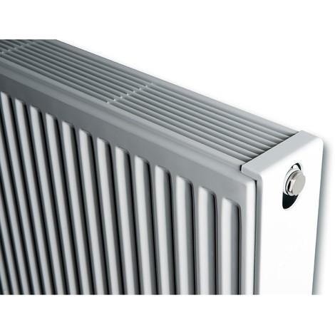 Radiateur eau chaude 922W panneau blanc compact 4 connexions type 22 H900m L400mm 10 éléments Kompakt-4 BRUGMAN 082209040