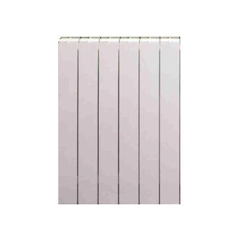 Radiateur eau-chaude aluminium blanc 775W 6 éléments L480mm H678mm 600/80 3A BLITZ 97 FONDITAL V222044-06