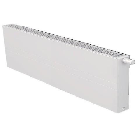 Radiateur eau chaude basse température 1010W panneau blanc type 22 H500mm L1600mm ventilo 230V E2 T6 Plan FINIMETAL 22PTM50-1600