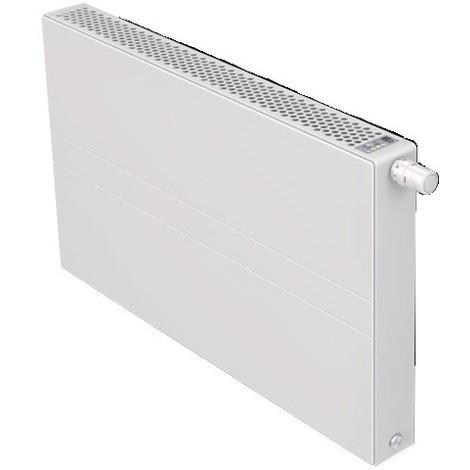 Radiateur eau chaude basse température 1134W panneau blanc type 22 H900mm L1400mm ventilo 230V E2 T6 Plan FINIMETAL 22PTM90-1400