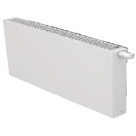 Radiateur eau chaude basse température 883W panneau blanc type 22 H500mm L1400mm ventilo 230V E2 T6 Plan FINIMETAL 22PTM50-1400