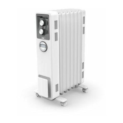 radiateur écologique sans huile 1500w blanc - eco15c2b - ewt