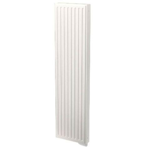 Radiateur electrique 1250W à inertie vertical H1950mm L600mm blanc RAL9016 Yali GV LVI 5119150