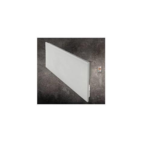 Radiateur electrique 200W à inertie en resine granité blanc naturel horizontal H250mm L600mm Ep 66mm MILO Rock LVI 2025110