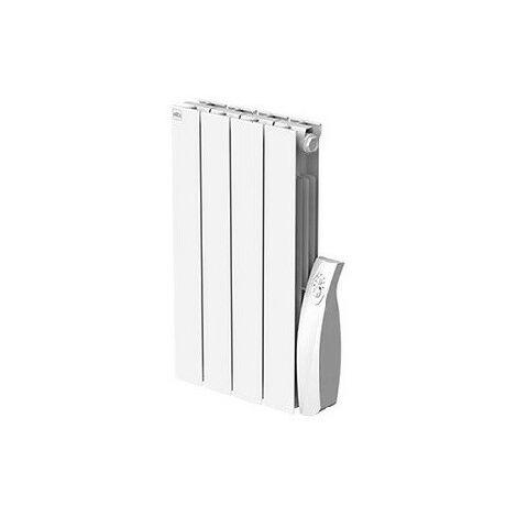 Radiateur electrique 500W inertie à fluide caloporteur blanc Horiz 395x580x80mm Fil Pilote Alpinia Soft+ FRICO ALP05S+