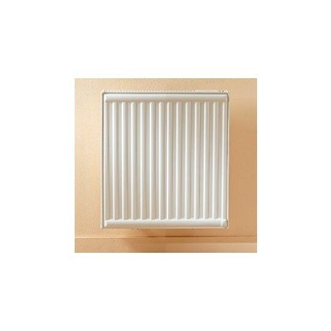 Radiateur électrique 500W inertie fluide caloporteur double panneau blanc 600X465X119mm TEON LVI 3646052