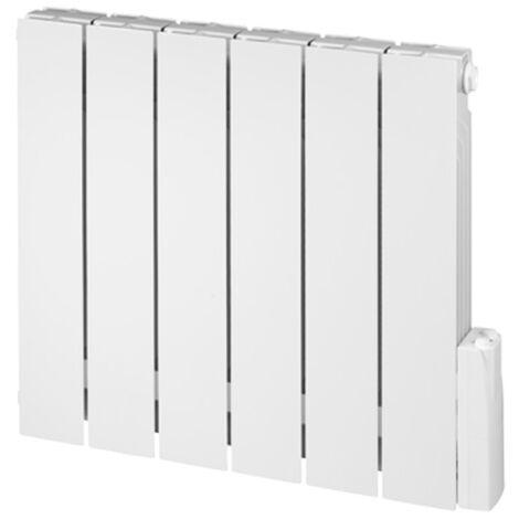 Radiateur électrique aluminium TERENGA Vertical fluide caloporteur 750W - Blanc