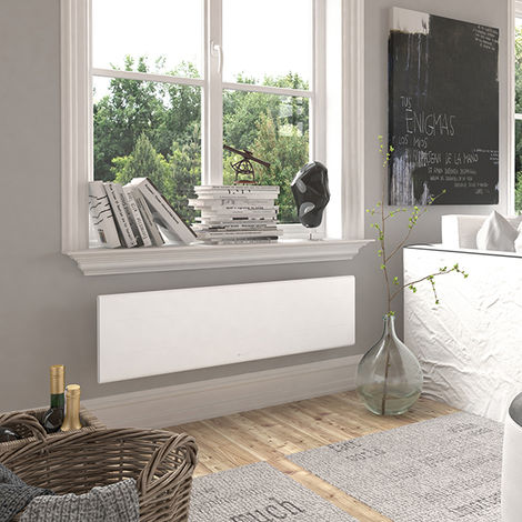 Radiateur électrique Aluminium THERMOR OVATION 3 Blanc 1500W Plinthe 450351
