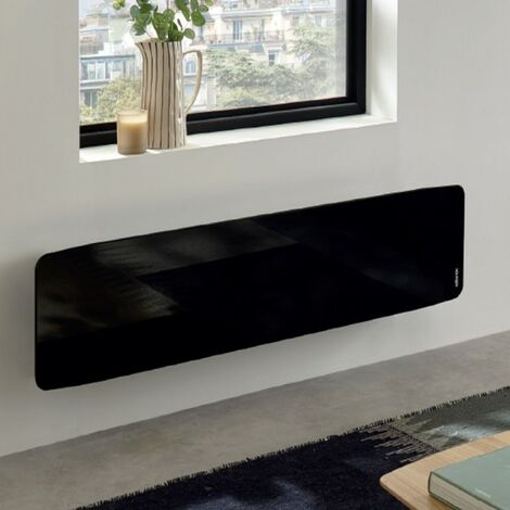 Radiateur électrique Atlantic DIVALI Premium Plinthe Noir 1500W Lumineux - 507652