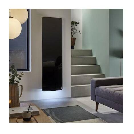Radiateur électrique Atlantic DIVALI Premium Vertcial Noir 1500W Lumineux - 507649