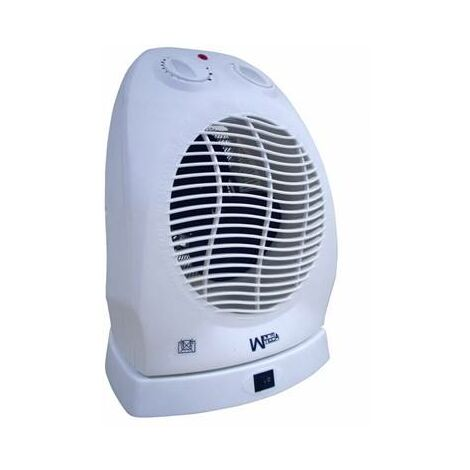 Radiateur electrique chauffage soufflant 2000W - thermostat + oscillation