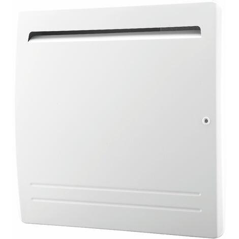 Radiateur électrique cœur céramique + film de protection - thermostat électronique - double élément chauffant - VOLTMAN - 1000W IP24 NF CE - Blanc