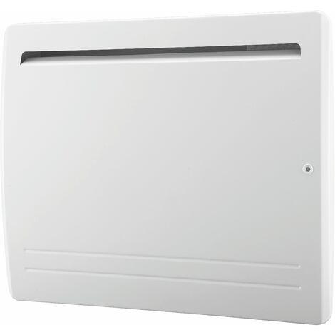 Radiateur électrique cœur céramique + film de protection - thermostat électronique - double élément chauffant - VOLTMAN - 1500W IP24 NF CE - Blanc