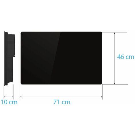 Radiateur électrique cœur de chauffe céramique façade en verre noir - chauffe rapide - multiprogrammes - VOLTMAN - 1500W IP24 NF CE